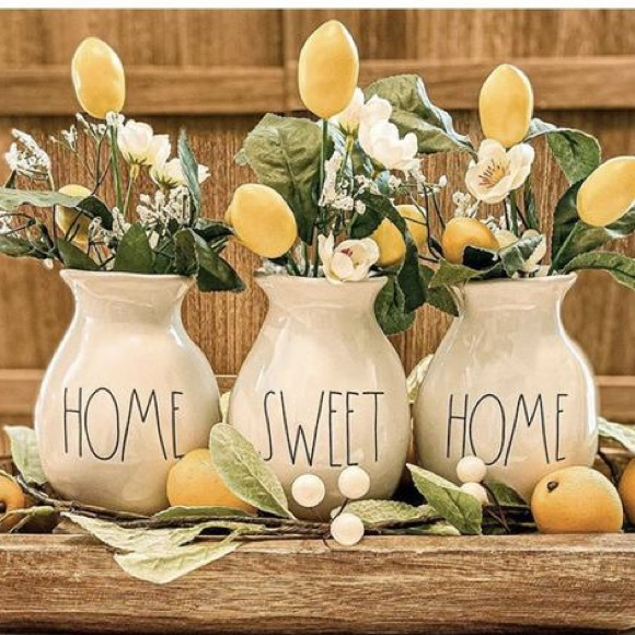 HOME SWEET HOME Boxed Vase Set/3 by Rae Dunn